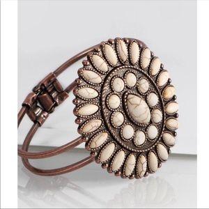 Natural Stone Boho Blossom Bracelet